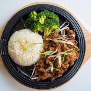 Spicy Pork Sizzle Bop