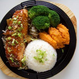 Salmon Teriyaki Sizzle Bop